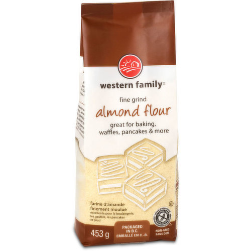 Great for baking, waffles, pancakes and more. Non-GMO and gluten free. Packaged in B.C.