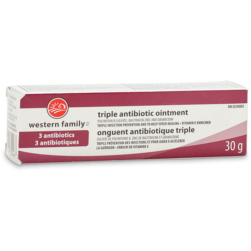 Triple infection prevention & to help speed healing. Vitamin E enriched.