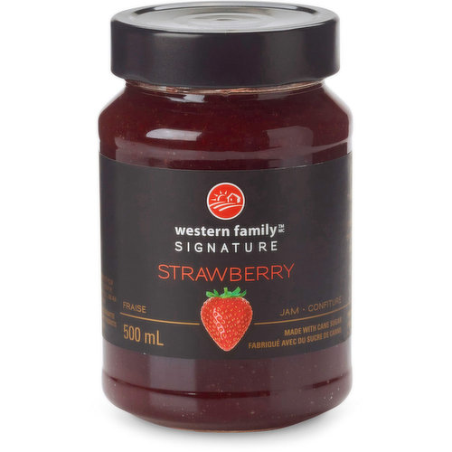 The sweet summer richness of ripe strawberries in this jam is delectably pure & simple. Made with cane sugar. Product of Belgium.