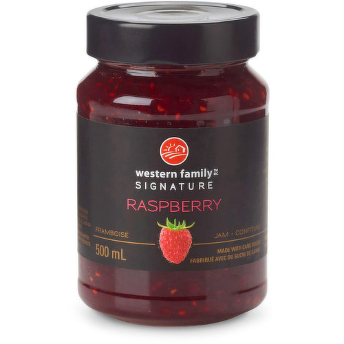 Bountiful in berry flavor, our classic raspberry jam satisfies even the simplest sweet craving. Made with cane sugar. Product of Belgium.