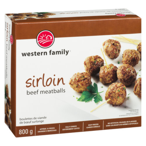 Frozen Fully Cooked. Great in spaghetti or to serve at a party. Approximately 51 pieces. Fully cooked. No artificial colors or flavors.