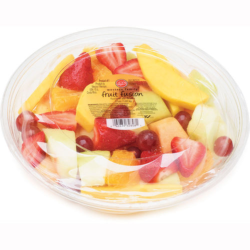 Fresh Cut Grapes, Mango, Strawberries, Oranges, Cantaloupe, Honeydew Melon.
