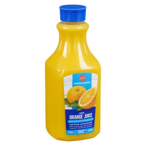 Not from concentrate, pasteurized. No added sugar.