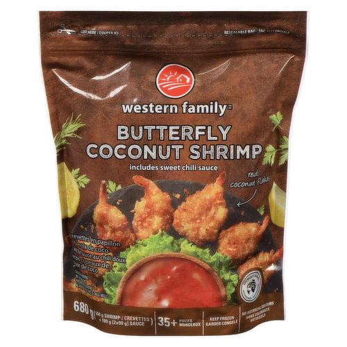 Includes sweet chili sauce. No artificial colours or flavours. 35+ pieces. 500g shrimp plus 2x90g sauce. Ocean Wise.