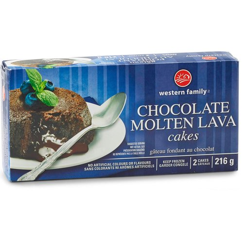 Rich, moist cakes made with butter and dark chocolate. No artificial colours or flavours. 2 frozen cakes.