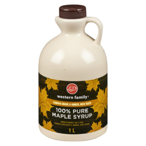 Canada Grade A Amber, Rich taste 100% pure Maple Syrup