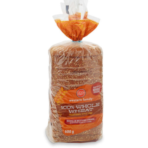 Baked in Western Canada. No artificial colours or flavours. Made with whole grains.