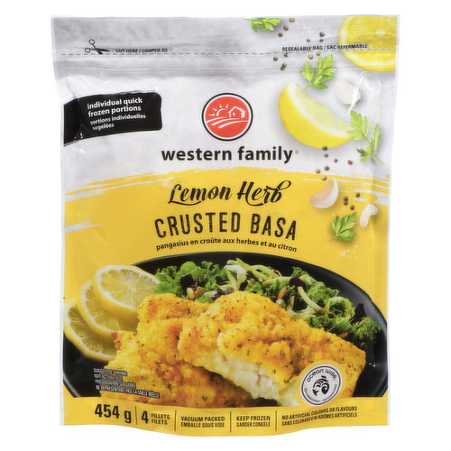 Individual quick frozen portions. 4 fillets. No artificial colours or flavours. Ocean Wise.