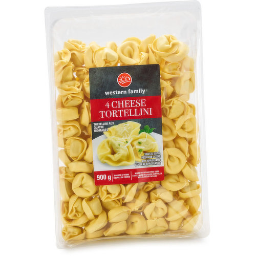 This is our value pack size of fresh tortellini pasta stuffed with a blend of four different cheeses. This easy-to-prepare dish can be served after simply boiling for a few minutes and then can be served at lunch or dinner with any of your favourite sauces.<br />