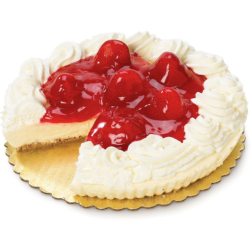 Try our Luscious Cheesecake, Topped in Store with strawberries and Real Whipped Cream. Seasonal and Available While Quantities Last.
