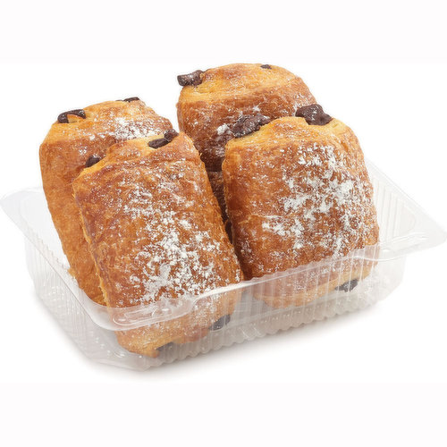 Baked in Store. Delicious chocolate-filled French-style gourmet croissants.