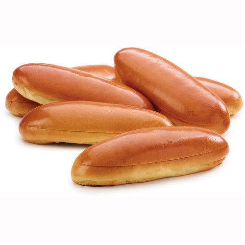 Pack of 6 Hot Dog Buns.