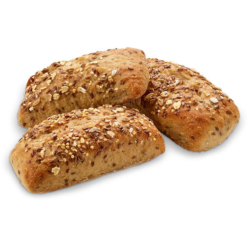 Baked in store. Combination of Flax Seed, Spelt and Oats.