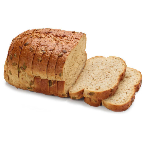 The combination of toasted malted wheat flakes and the nuttiness of the Pumpkin seeds gives this bread a unique flavour and texture.