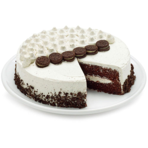 The best ever Cookies and Cream Cake! Chocolate cake layers, cookies and cream filling!