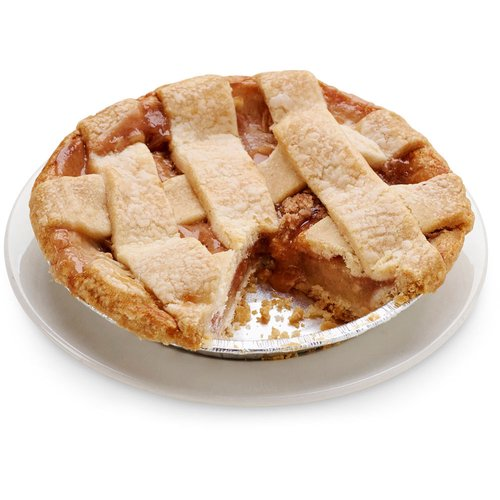 A buttery cake flour pie crust and lattice top filled with granny smith apples mixed with just the right amount of sugar and cinnamon. 6in pie.