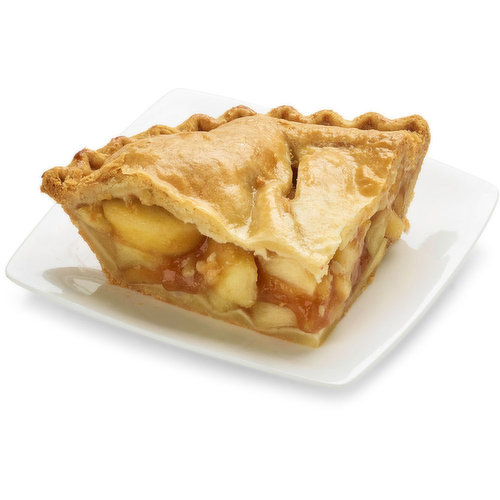 Baked in store. Granny Smith apples and cinnamon complement each other perfectly in this pie. Approx 298g per slice