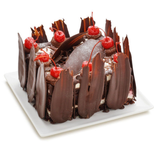 Beautiful 6 inch Black Forest Cake. Feeds 6-9 people.