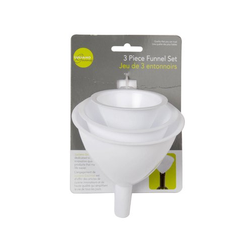 Made for transferring liquids & dry ingredients without a mess.