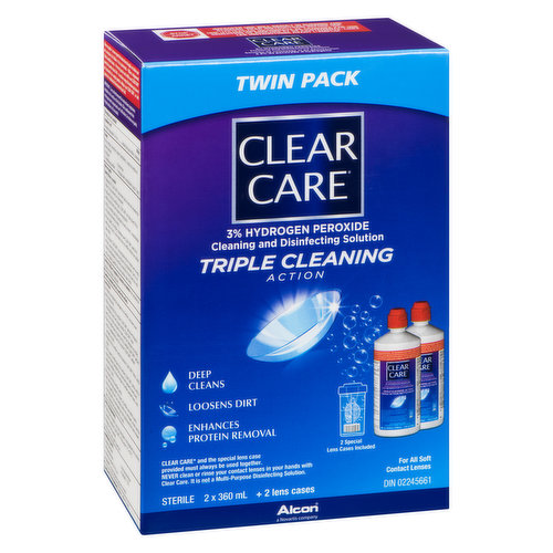 Ciba Vision Clear Care Twin Pk 2x360ml