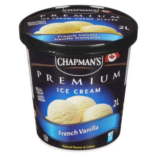 Rich and creamy French vanilla ice cream. 160 Calories per 1/2 Cup.