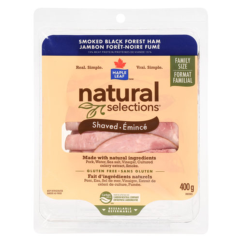 Family Pack, Gluten Free No Preservatives Added.