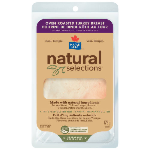 Turkey With Natural Ingredients, No Preservatives Added. Resealable Package.