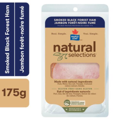 Ham with Natural Ingredients: Ham, Water, Sea Salt, Vinegar, Lemon Juice Concentrate. No Preservatives Added