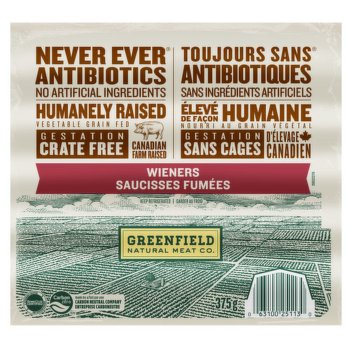 No Antibiotics Ever. No Added Hormones Ever. No Artificial Ingredients. Animal Care Certified. Raised on Canadian Farms. 100% Vegetable Grain Fed.
