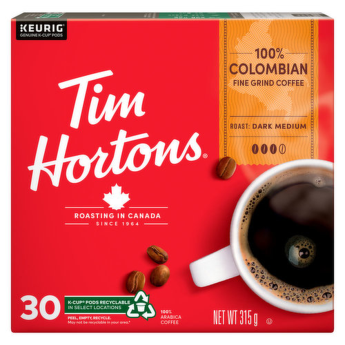 Made with 100% Arabica beans, this premium coffee is roasted with care to deliver a well-balanced, crisp flavor & smooth finish. 30 K-Cups.