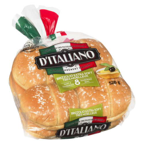 8 Soft and Rich Italian Style Soft Rolls.