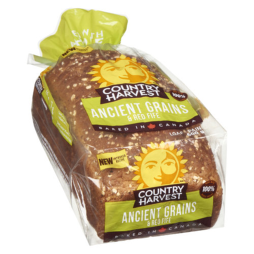 Hearty & fresh. 23g whole grains, 3g fibre, 4g protein & 0.3g omega-3. Grab life by the grains! Baked in Canada.