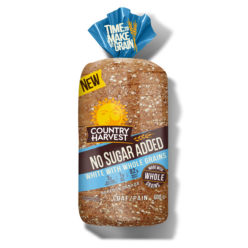 White bread taste and texture baked with the goodness of whole grains. The perfect partner for grilled cheese or a BLT.<br />