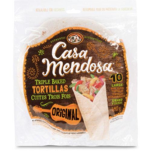 10 Original Tortillas. Zero Trans Fat. 640g