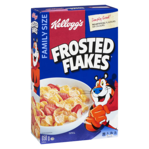Flakes of Corn Cereal. Family Size. 20% Daily Value Vitamin D.