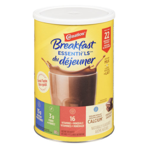 Chocolate Flavoured Instant Breakfast with Protein, Calcium, Vitamin D, Iron & Prebiotics