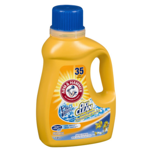 Liquid Laundry Detergent Plus the Power of Oxi Clean Stain Fighters. 35 Loads.
