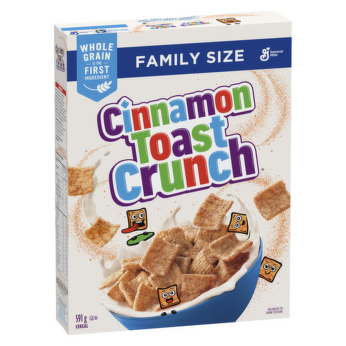 Made with real cinnamon-sparkly goodness, this cereal is so delicious youll want to crunch around the clock. No artificial colours or flavours.