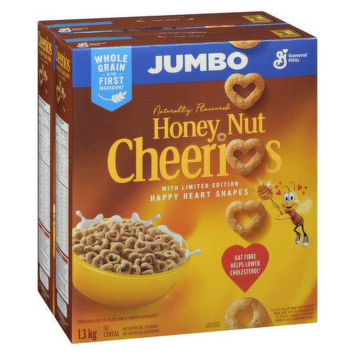 Jumbo Size - 2x650g BoxesMade with Real Honey and Natural Nut Flavour.
