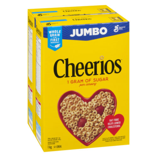 2x500g Boxes. Made with Whole Grain Oats. Oat Fibre Helps Lower Cholesterol.