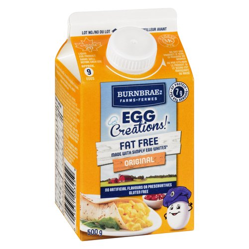 Low In Fat & Cholesterol Free. Made with Real Eggs. Approx 9 Large Eggs Liquid Product.