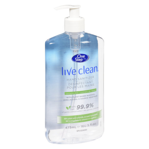 Kills 99.9% of Germs Without Water. With Aloe.