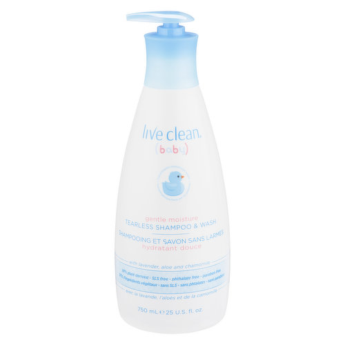 Gentle Moisture with Lavender, Aloe and Chamomile. 98% Plant Derived. SLS/ Sulfate Free, Phtalate Free, Paraben Free.