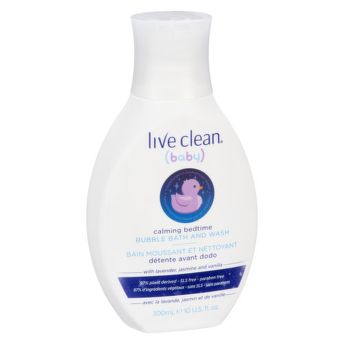 With Lavender, Jasmine and Vanilla. 98% Plant Derived, SLS/Sulfate Free, Paraben Free.