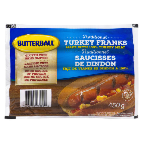 Gluten & Lactose Free. They are a great tasting alternative to beef or pork wieners and they have less fat!