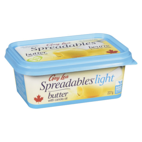 25% Less Fat than Regular Gay Lea Spreadables Butter. Omega-3 Polyunsaturates