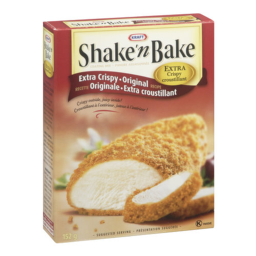 Shake'n Bake Extra Crispy Original Recipe. Great for Chicken Thighs.