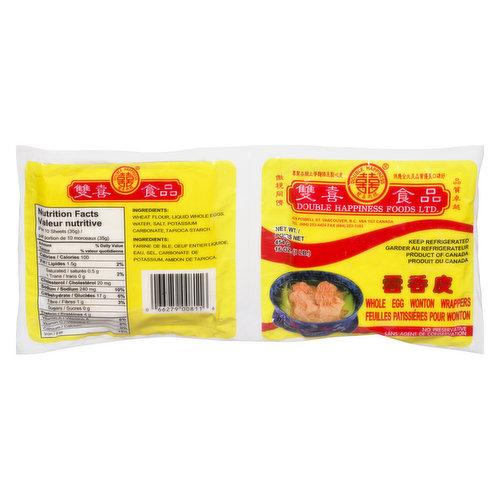 Fresh - No Preservatives.Ingredients: Wheat Flour, Liquid Whole Eggs, Water, Salt, Potassium Carbonate, Tapioca Starch