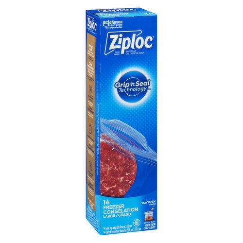 Double Zipper. Smart Zip Feel it, Hear it, See it. 14 Bags 26.8cm x 27.3cm