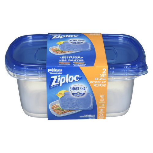 One Press Seal. Save Cabinet Space, Fridge Space. 2 Containers & Lids 2.12L.